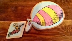 Part of the Oh, the Places You'll Go! cookies series I painted.