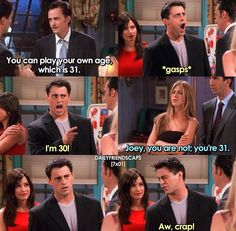 Joey doesn't even know his own age😝😂 Friends Funny Moments, Friends Tv Quotes, Friends Scenes, Friends Episodes, I Love My Friends, Friends Show, Friends Cast, Best Tv Shows, Best Shows Ever