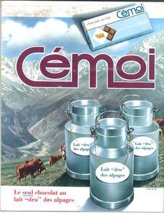 Chocolat Cémoi, au lait dru des alpages - Jours de France, 13 août 1966