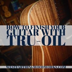 This is how you can apply a professional finish with Tru-Oil. I have personally finished around 30 guitars with tru oil, and it's a great finish. You can apply it by hand, and you don't need any fancy equipment. A small bottle can do a few guitars, and it's inexpensive. With a little practice, you can apply a great looking finish. Enjoy the article, and happy building.