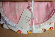 Baby Burp Cloths  Set of 2  Kansas by JulieButlerCreations on Etsy, $10.00