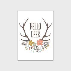 Antler Print 5x7 Instant Download Hello Deer Quote Printable Deer Print Antler Art Print Nursery Print Cabin Decor Adventure Art Printable by MossAndTwigPrints on Etsy https://www.etsy.com/listing/191697265/antler-print-5x7-instant-download-hello