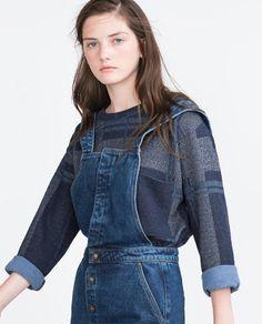 Image 4 of RETRO PINAFORE DRESS from Zara