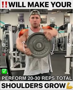 3 exercises to grow your front delts Weight Training Workouts, Gym Workout Tips, Fun Workouts, At Home Workouts, Workout Fitness, Moda Fitness, Fitness Tips, Fitness Motivation, Fitness Memes