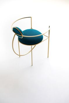 According to the designer, the three chairs are based on geometric studies of the sphere, the circle and the semi-circle. Each also draws on her fascination with the universe.