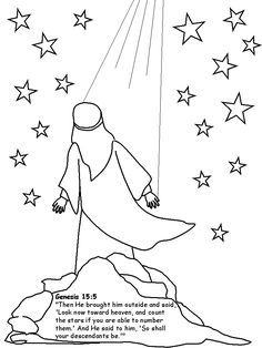 Abram Or Abraham Bible Coloring Pages For Preschool Kindergarten And Elementary School Children To Color