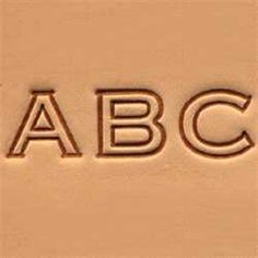 "Craftool 1/2"" (13 mm) Block Alphabet Set Item Tandy Leather 8143-00 #TandyLeather"