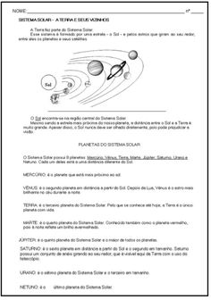 Atividade sobre o Sistema SOLAR para estudantes | Bela & Feliz Education, Earth Science Activities, Teaching Geography, Geography Activities, Picture Of Solar System, Index Cards, Science, Universe, Learning