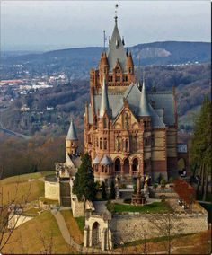 Dragon Castle or Schloss Drachenburg is a private villa built in the century. The castle is built on Drachenfels hill in Königswinter, town in Germany on the river Rhine River, near the city of Bonn Beautiful Castles, Beautiful Buildings, Beautiful World, Beautiful Places, Places Around The World, Places To See, Oh The Places You'll Go, Around The Worlds, Photo Chateau
