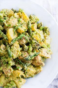 Creamy Avocado Potato Salad | aberdeenskitchen.com