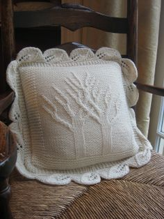 Twining trees pillow by shadystroll, via Flickr