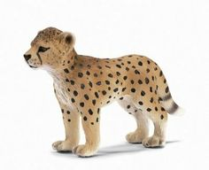 """Schleich Cheetah Cub by Schleich. $4.98. These highly detailed figurines and accessories are hand painted and historically accurate. We carry a wide selection for hours of play. Scale 1:20. True to life modeling. Meticulously hand painted figurines. Size: Approximately 3.7""""H."""