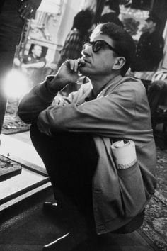 Alain Resnais (1922-2014) on the set of Last Year at Marienbad (1961).