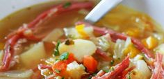 Corn Beef and Cabbage Soup