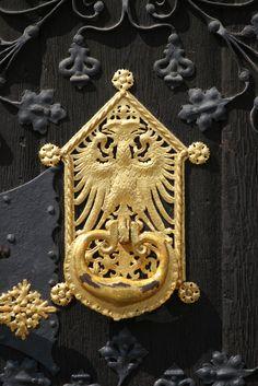 Frankfurt - Double Head Eagle Gold Door Knocker | von Isleofhope
