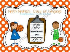 March Madness: Crazy for Language product from TheSpeechPath on TeachersNotebook.com