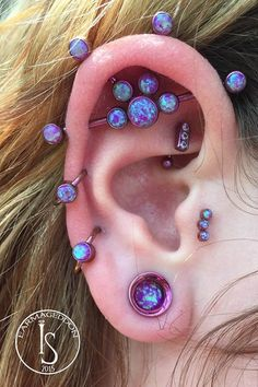 Body piercing jewellery - over the top ear piercings - industrial strength -  helix - cartilage - daith - rook - tragus