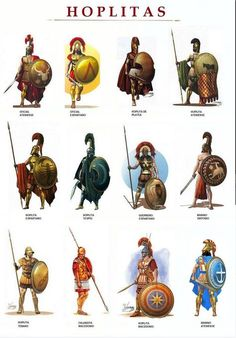 Hoplitas: Hoplites were citizen-soldiers of Ancient Greek city-states who were primarily armed with spears and shields. Hoplite soldiers utilized the phalanx formation in order to be effective in war with fewer soldiers. Greek History, Ancient History, European History, Ancient Aliens, American History, Art History, Alter Krieger, Ancient Armor, Greek Warrior