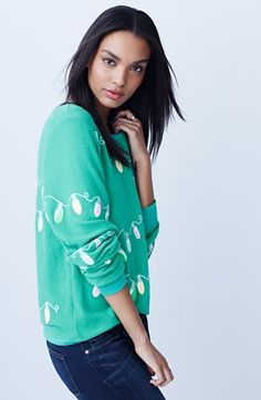 wildfox glowing lights sweatshirt - the perfect alternative to the ugly christmas sweater.