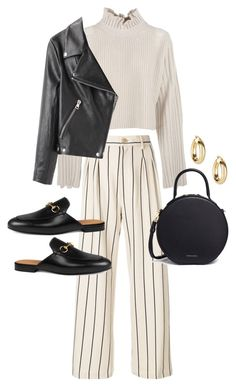 """Untitled #23592"" by florencia95 ❤ liked on Polyvore featuring Golden Goose, Erika Cavallini Semi-Couture, Mansur Gavriel, Gucci, Argento Vivo and Acne Studios"