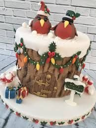 Image result for robin christmas cake images Christmas Cakes Images, Mini Christmas Cakes, Christmas Cake Designs, Christmas Deserts, Christmas Cake Decorations, Holiday Cakes, Xmas Cakes, Christmas Recipes, Fondant Christmas Cake