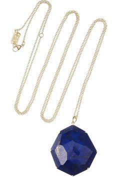IPPOLITA  Octagon 18-karat gold lapis lazuli necklace