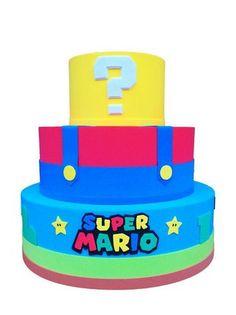 bolo super mario fake #bolomario #bolosupermario #festamario #mariobros Super Mario Bros, Super Mario Birthday, Mario Birthday Party, Super Mario Party, Bolo Do Mario, Bolo Super Mario, Mario E Luigi, Legos, Party Cakes