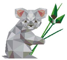 Koala Cross Stitch Pattern Modern Cross Stitch by PlatoSquirrel