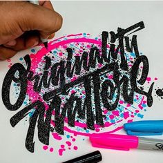 Originality Matters. Make your style count. Artwork via @el_juantastico #typematters by type_matters