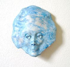 The Sky Face Mask Sculpture by JanePriserArts on Etsy