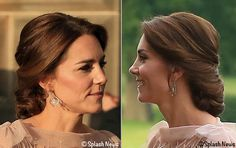 See how the Duchess of Cambridge, formerly Kate Middleton, styled Jenny Packham's blush pink gown for EACH fundraiser in Norfolk & her diamond jewelry.