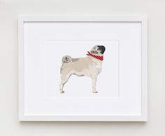 This fun, fresh illustration features the pug design.