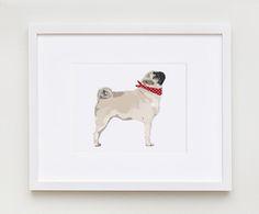 This fun, fresh illustration features the pug design.