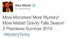 Season 2 of Gravity Falls premieres this summer!