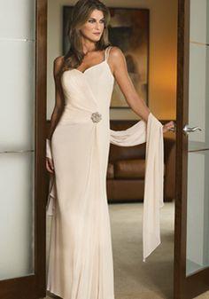 Romantic Floor Length Spaghetti Straps Chiffon Pink Mother of the Bride Gown - 1300304977B - US$229.99 - BellasDress