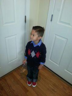 Little boy fashion.  Adorbs!