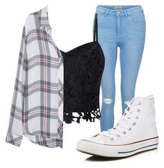 """Casual Everyday outfit"" by zoesherlock on Polyvore featuring New Look, Lipsy, Converse and Rails"