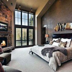 50 Master Bedroom Ideas That Go Beyond The Basics 2019 Dream master bedroom. My-House-My-Home The post 50 Master Bedroom Ideas That Go Beyond The Basics 2019 appeared first on Bedroom ideas. Dream Master Bedroom, Rustic Master Bedroom, Master Bedroom Design, Cozy Bedroom, Home Decor Bedroom, Modern Bedroom, Master Bedrooms, Master Suite, Bedroom Designs