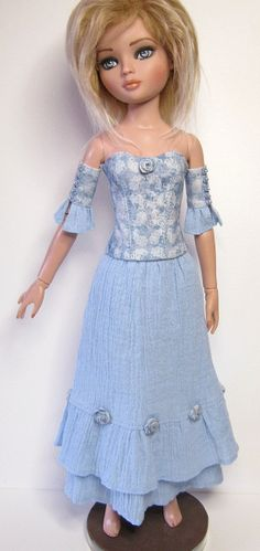 Ellowyne Wilde Tonner OOAK doll outfit ROSES BLUE by RaccoonsRags
