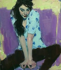 Malcolm Liepke, Looking Down 2017, oil on canvas