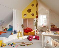 attic playroom | ... of Repurposing an Attic for Kids Playroom - ArchitectureArtDesigns.com