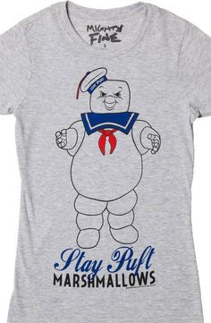 The Real Ghost Busters 1984 Stay Puff Quality Marshmallows Adult T Shirt