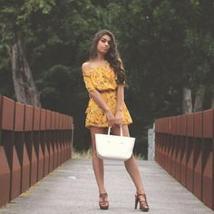 Yellow dress floral