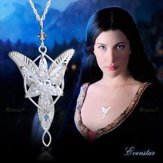 Lord of the Rings Arwen's Evenstar Pendant Necklace with Jewelry Box,Lord of the Rings Necklace,Great Gift for The Lord of the Rings Fans