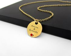 Anniversary Gift Necklace with Couples Names Gold by JonJonJewel, $46.00