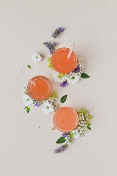 pink grapefruit lemonade with rhubarb.