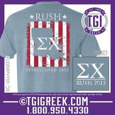 TGI Greek - Sigma Chi - Fraternity Recruitment - Comfort Colors - Greek T-shirts - Bid Day  #tgigreek #sigmachi #bidday
