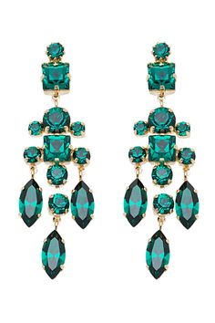 Elie Saab 2014 Spring/Summer. Gorgeous coloured gems, funky design, and they would hang wonderfully you can just tell.
