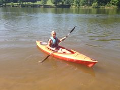 1st time in a kayak! 2013