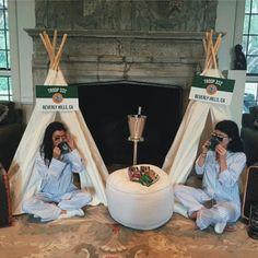 Go Inside Kim Kardashian's Camp-Inspired Baby Shower: Khloé Kardashian, Kylie Jenner and More Celebrate Baby No. 2 Kourtney Kardashian, Kylie Jenner, Instagram